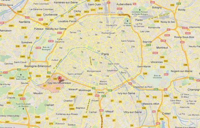 Google Maps de Issy-les-Moulineaux (Hauts-de-Seine).