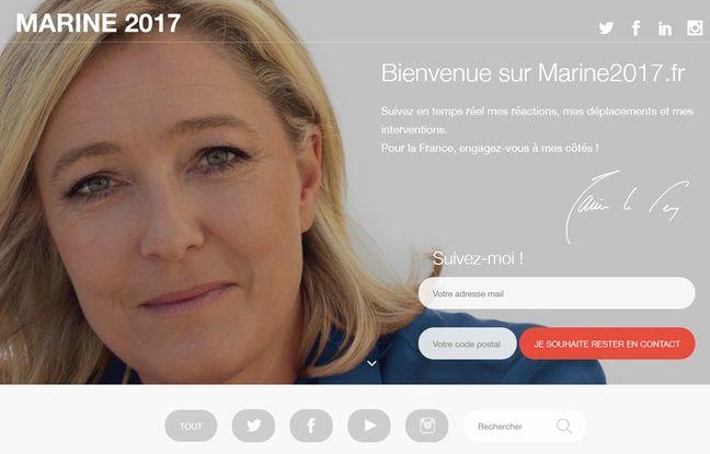 Le site de Marine2017.fr