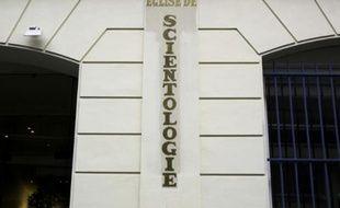 La façade du siège de l'église de Scientologie à Paris le 8 février 2010