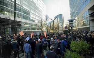 Manifestation d'employés d'Alstom à Levallois-Perret le 21 janvier 2016