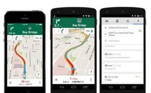 La nouvelle version de Google Maps sur iOS et Android, lancée le 6 mai 2014.