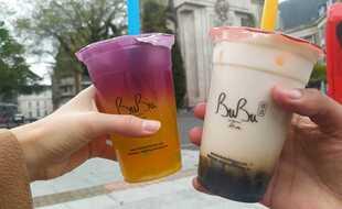 Deux bubble tea de chez Bubu Tea, à Lille.