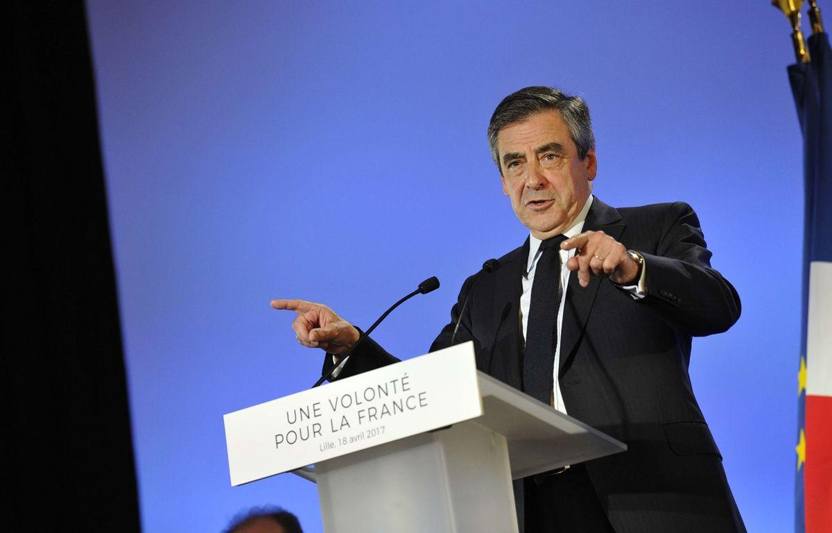François Fillon en meeting. – SARAH ALCALAY/SIPA