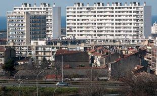 Marseille le 16 janvier 2011 - La cité Bellevue Felix Pyat dans les quartiers nord de Marseille