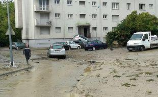 Le village de Trèbes tente de se remettre après les inondations du 15 octobre 2018.