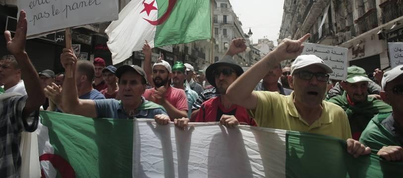 Manifestation à Alger contre le gouvernement, le 2 août 2019.