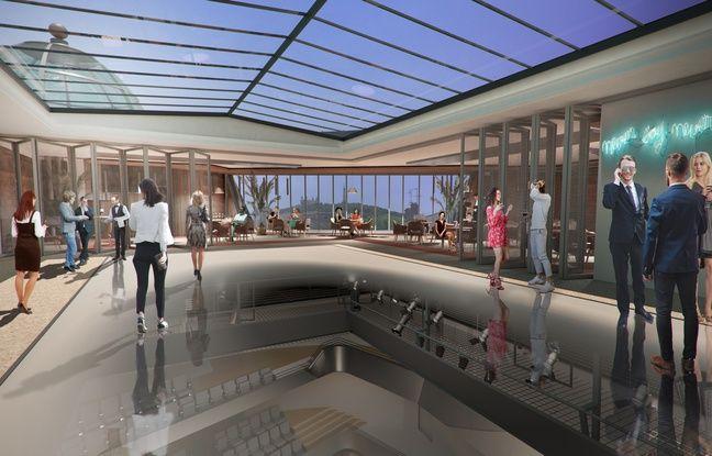 Le projet de réhabilitation de la salle Rameau de Lyon prévoit une verrière sous les toits dans lequel se trouvera un espace de restauration.