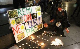 Hommage sur le site de Sivens, le jour des obsèques du jeune militant.