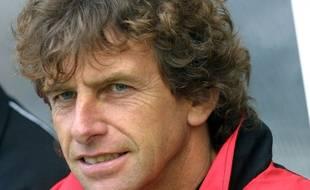 Christian Gourcuff lors de son premier passage en tant qu'entraîneur du Stade Rennais, en 2001-2002.