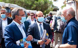 Thierry Mariani et David Rachline, en campagne dans le Var