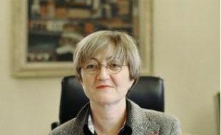 La procureur de la République, hier, dans son bureau au palais de justice de Bobigny.