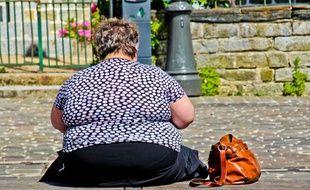 Une femme obèse photographiée le 15 juillet 2016, en France.