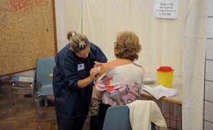 Simulation de campagne de vaccination pour la grippe A à Haguenau. Le 06 10 2009