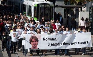 Marche blanche en hommage à Romain Barré, le 22  octobre 2016 à Nantes.