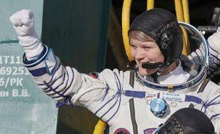 Anne McClain au Kazakhstan avant le décollage de la fusée Soyouz, le 3 décembre 2018.