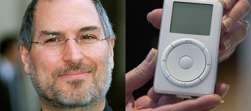 Steve Jobs et le tout premier iPod en octobre 2001