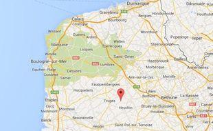 Google maps de Lisbourg (Pas-de-Calais).