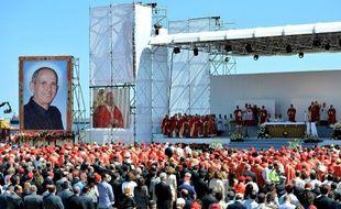 La messe de béatification du père Giuseppe «Pino» Puglisi, assassiné par la mafia sicilienne, le 25 mai 2013 à Palerme.