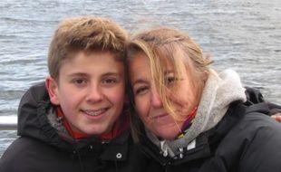 Lucas, disparu il y a un an et Nathalie, sa maman.