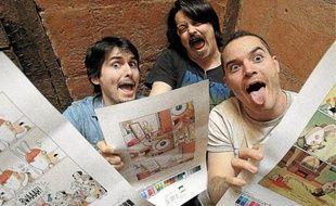 Romain Pujol, Gorebeï et Tithaume, un trio déjanté pour un album décalé.