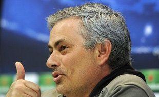 José Mourinho, l'entraîneur du Real Madrid, en conférence de presse, le 29 avril 2013.