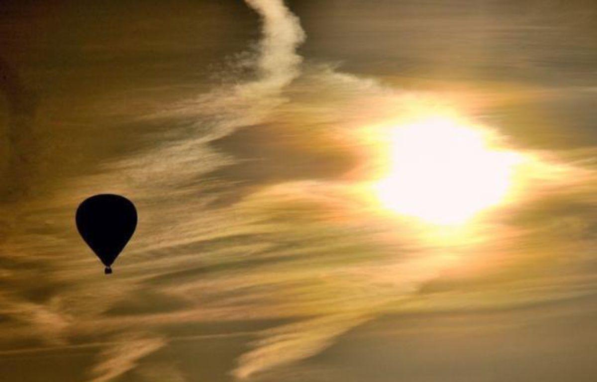 Un montgolfière en vol. Illustration – Philippe Huguen AFP