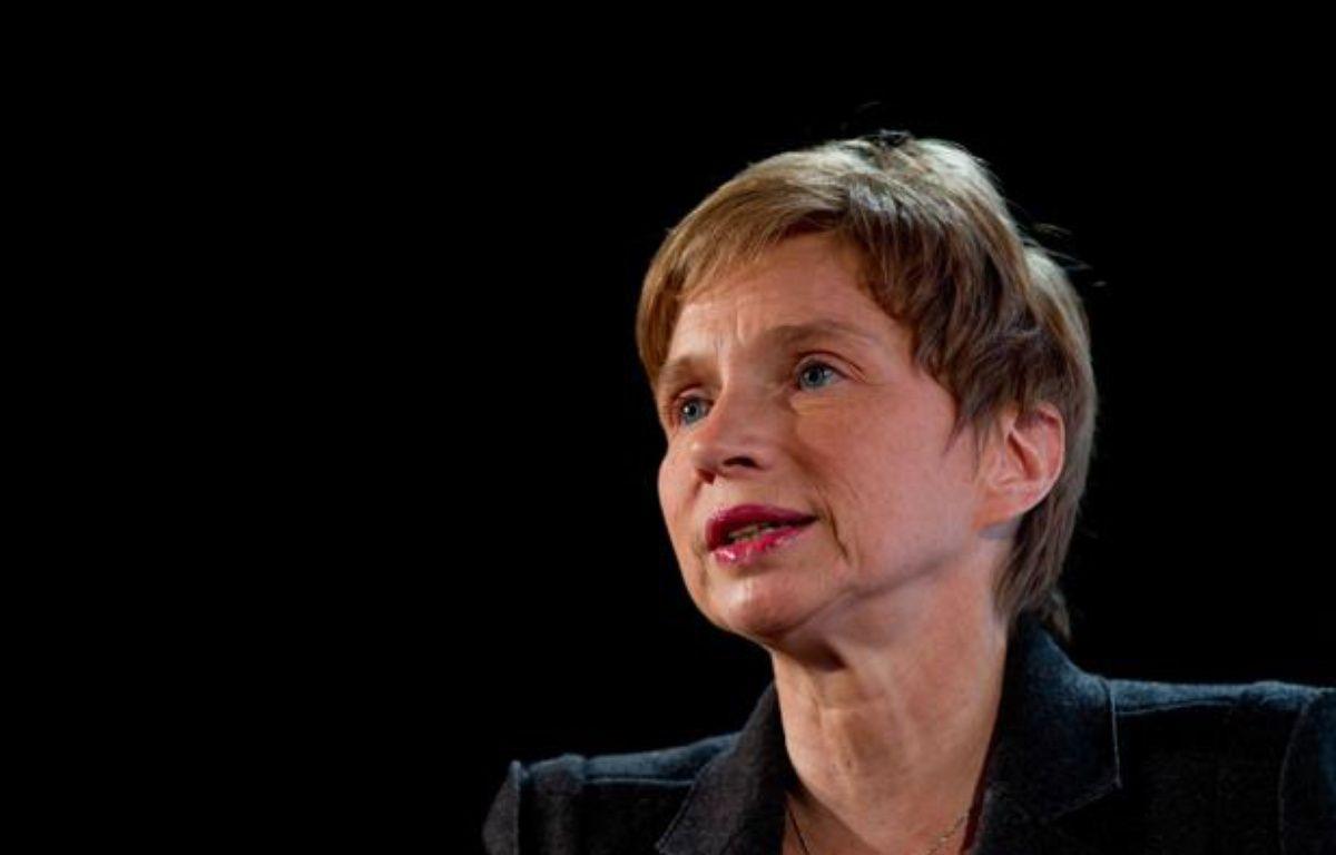Laurence Parisot à Paris le 14 février 2012. – PRM/SIPA