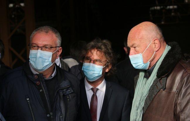 De gauche à droite, Patrick Noaille, directeur industriel K'Ryole, Dante Rinaudo, maire de Tonneins, et Alain Rousset, président de la Nouvelle-Aquitaine