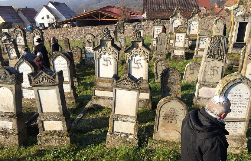 « Affreux », « immonde »... A Westhoffen, les habitants consternés après la profanation du cimetière juif
