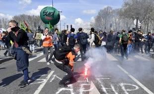 Des opposants à la réforme de la SNCF