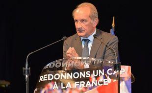 Gérard Longuet au Pontet ce jeudi 16 décembre 2017.