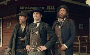 Jonathan Cardonnel, François-David Cardonnel et Hubert Delattre, les trois frères Templeton dans la nouvelle série d'OCS City.