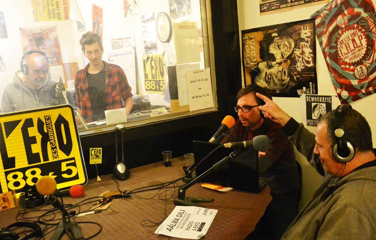 Dans les studios de la radio associative L'Eko des Garrigues. – N. Bonzom / Maxele Presse / 20 Minutes
