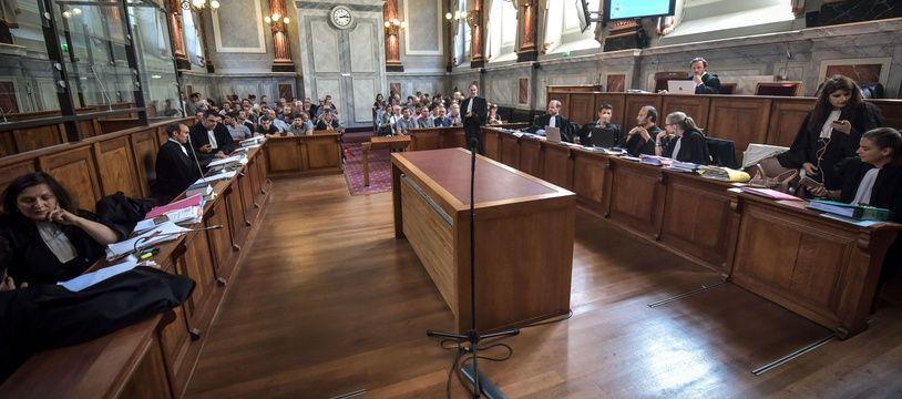 L'assemblee de la salle de la cour des assises de Pau Proces du directeur et de trois employes de l'abattoir municipal de Mauleon, en 2018.
