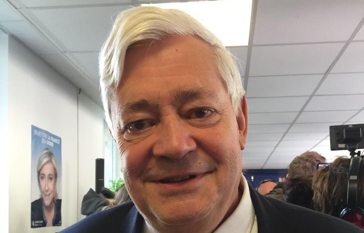 Bruno Gollnisch, eurodéputé FN et membre du bureau politique du parti, le 26 avril 2017 à Paris – A.-L. BERAUD/20 Minutes