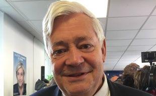 Bruno Gollnisch, eurodéputé FN et membre du bureau politique du parti, le 26 avril 2017 à Paris