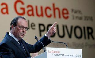 François Hollande fait un discours à la fondation Jean Jaurès le 3 mai 2016