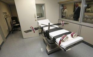 Une salle d'exécution dans une prison de l'Oklahoma, aux Etats-Unis.
