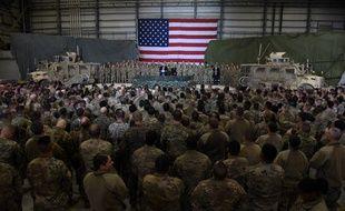 Donald Trump s'est rendu sur la base américaine de Bagram en Afghanistan pour Thanksgiving