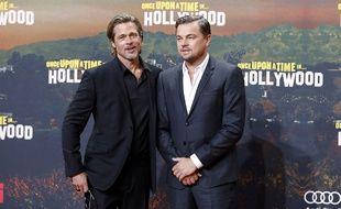 Les acteurs Brad Pitt et Leonardo DiCaprio