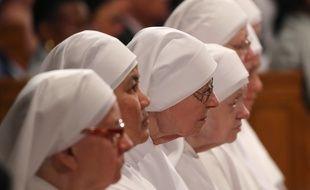 Des religieuses durant une messe à Washington (ilustration).
