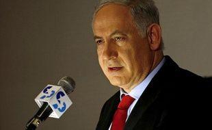 Le Premier ministre israélien, Benjamin Netanyahu, le 17 février 2010 en conférence presse à Jérusalem.