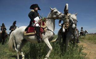 Reconstitution d'une bataille historique de la bataille de Ligny.