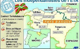"""L'organisation séparatiste basque affirme cette fois que son objectif est de lancer """"un processus démocratique au Pays Basque"""". """"A la fin de ce processus, les citoyens basques devront avoir la parole et le pouvoir de décision sur leur avenir"""", poursuit l'organisation indépendantiste, en référence à sa revendication du droit à l'autodétermination du Pays Basque espagnol (nord)."""