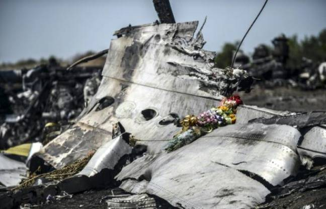 Des fleurs apportes poses sur des dbris du MH17, le 26 juillet 2014  Grabove, dans la rgion de Donetsk, en Ukraine