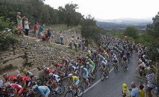 Le peloton du Tour de France le 20 juillet 2014.