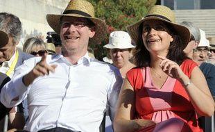Cécile Duflot et Pascal Canfin lors de l'ouverture des journées d'été d'EELV à Marseille le jeudi 22 août 2013.