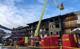 A Courchevel, les pompiers ont combattu le feu pendant quatre heures, le 20 janvier 2019.