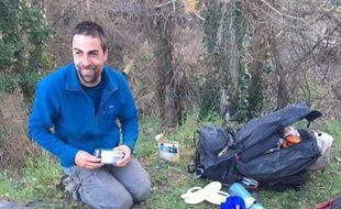 David Labarre s'est lancé dans une randonnée entre Carcassonne et Aspet en Haute-Garonne.