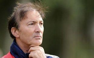 Eric Mombaerts, coach de l'équipe de France Espoirs, le 4 septembre 2008 à Clairefontaine.
